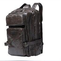 Брендовый рюкзак из натуральной кожи, мужские дизайнерские школьные рюкзаки, винтажная мягкая коровья кожа, ноутбук, Компьютерная сумка че