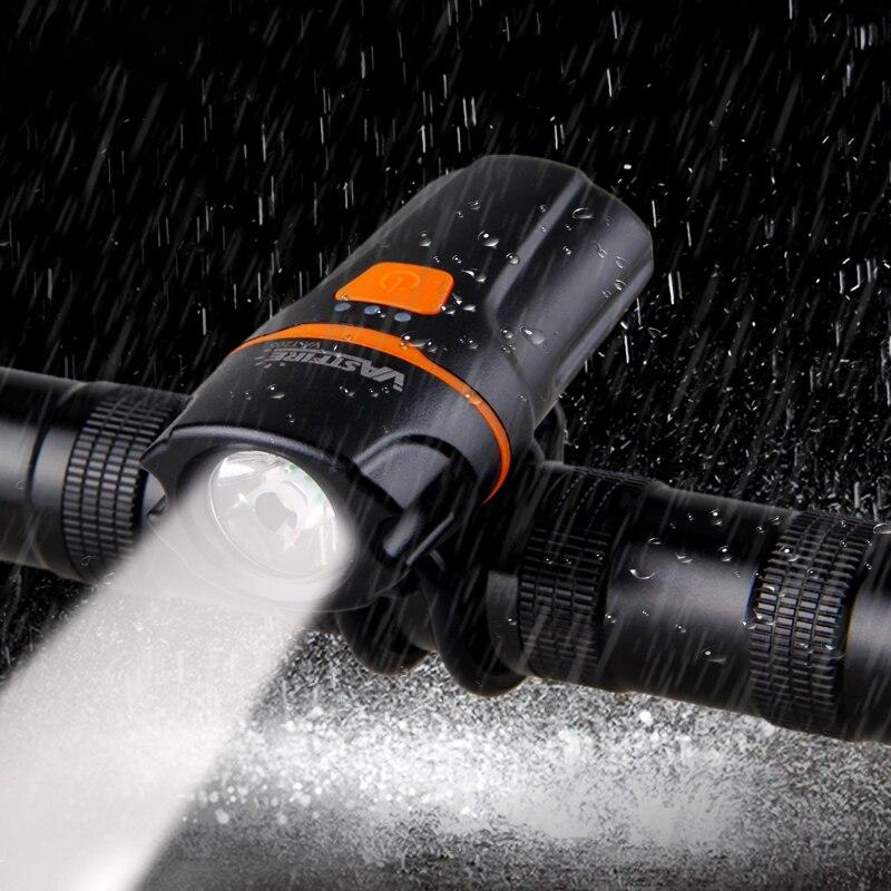 USB Rechargeable Bike Lights XPE LED Waterproof Front Handlebar Lamp Front Bike Headlight