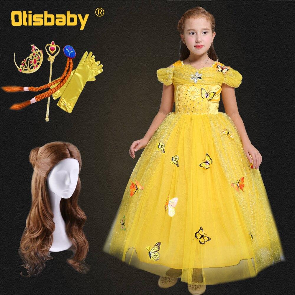 2018 Girls Belle Dress Birthday Girl Butterfly Bebe Gowns Fantasia ...