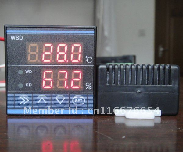 THC-0348 1/16 (48*48mm) Digital Temperature and Humidity Controller with Relay output and Power 110V to 220V AC 72 72 mm digital temperature and humidity controller tdk0302la