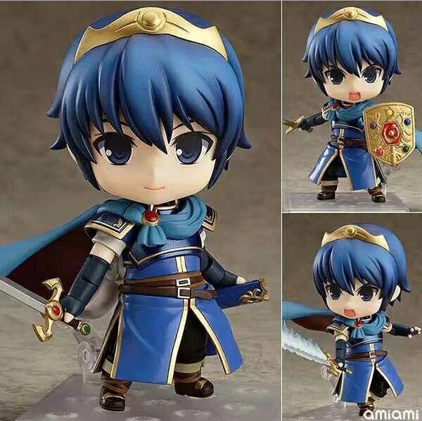 NEW hot 10cm Fire Emblem Marth action figure toys collection Christmas gift doll with box new hot 23cm the frost archer ashe vayne action figure toys collection doll christmas gift with box