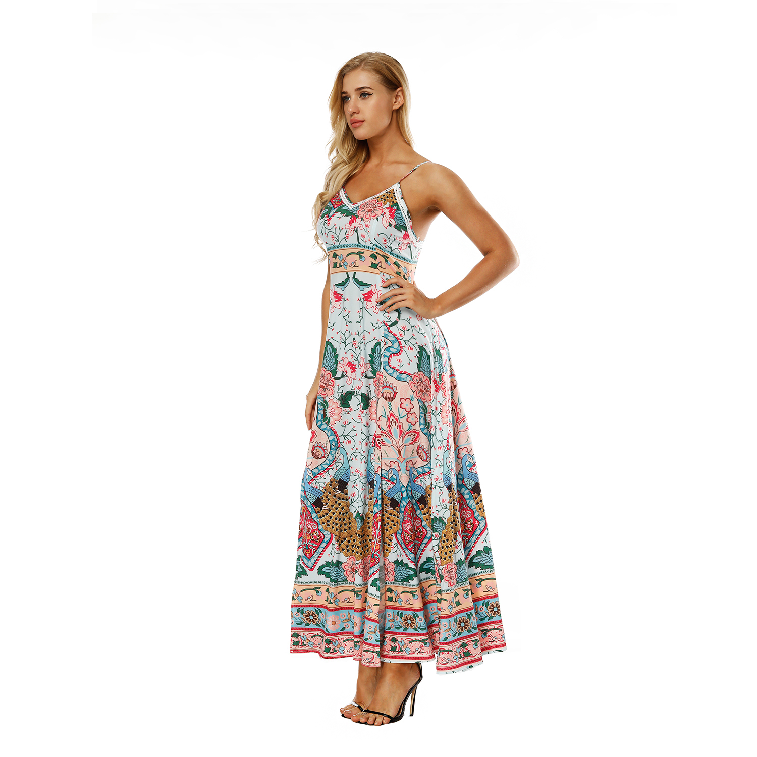 2018 Fashion hawaii Dress vestido Classic Print Maxi Summer Dress Beach  Clothes Long Beach Bohemian Sexy Ladies Summer plus size-in Dresses from  Women s ... a16b2344d0a2