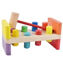 Childrens educational wooden math toys for children mathematics montessori Educational piling table puzzle early