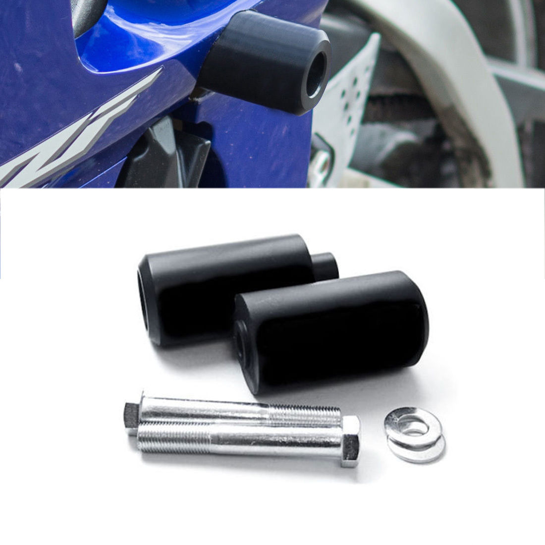 Motorcycle parts Black Frame Slider Crash Protector For 1999 2000 2001 2002 Yamaha YZF R6 YZFR6 ...