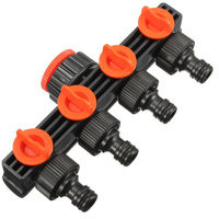 Hot Garden Tools Water Pipe Fittings 4 Way Water Separators Irrigation Supplies Faucets 1 Out 4