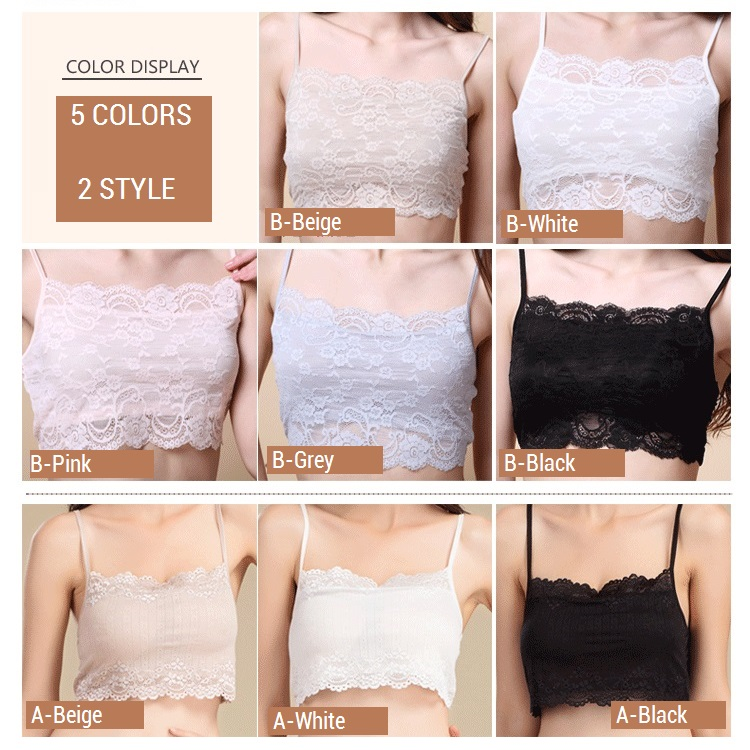 100% Real Silk Women's Tube Tops Femme Shoulder Sleeve Women Sexy Lace Wrap Chest Female Solid Wild Bottoming Woman 4