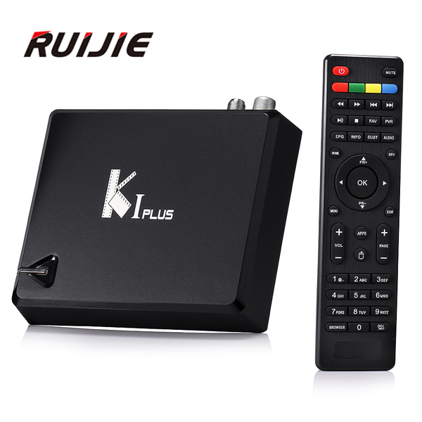 ФОТО K1 PLUS S2+T2 Android TV Box Amlogic S905 Quad core 64-bit Support DVB-T2 DVB-S2 1G/8G 1080P 4K Android 5.1 Smart Media Player
