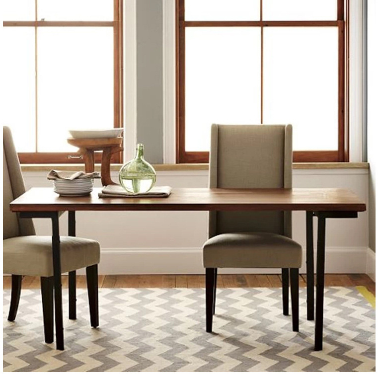 American wood dining table and retro desk combination for Custom kitchen tables and chairs