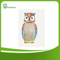 Owl Bird Repeller Practical Plastic Owl Decoy Statues Garden Protection Pest Repellent Bird Sculptures Garden Ornament Crafts