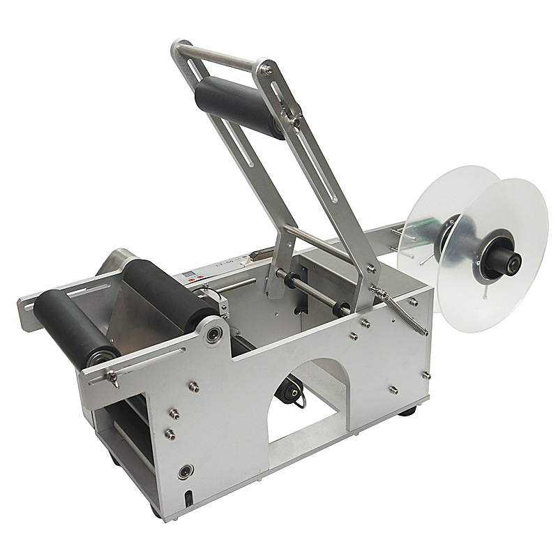 LT50 semi automática circular Adesivo máquina de rotulagem para o frasco redondo