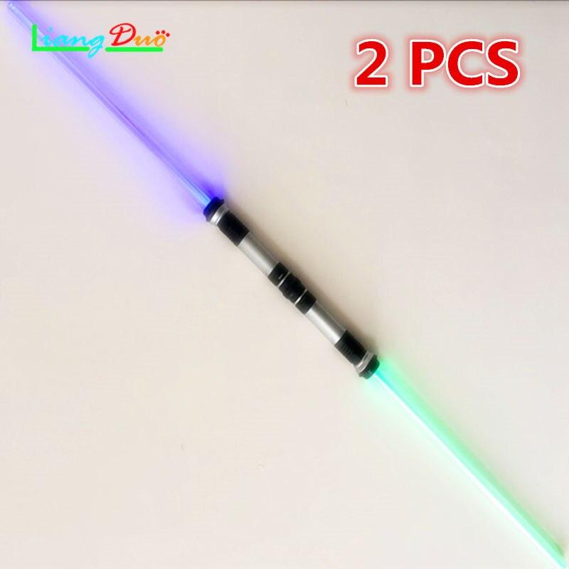 ᗑstar Wars Sabre Laser 2pecled Clignotant épée Armes Peut Mutuelle