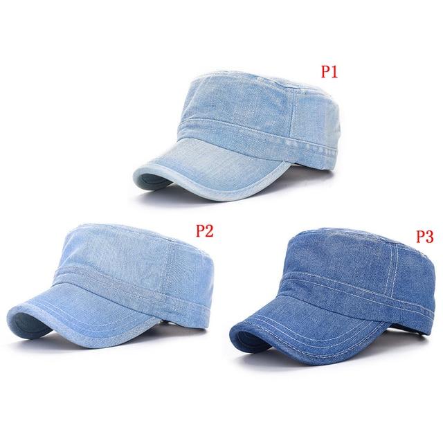 e853646b10e 2018 Hot 1PC Denim Baseball Cowboy Flat Cap Fashion Golf Jeans Vintage  Sports Sun Hat Gift Beauty Decor Street Shopping Supplies
