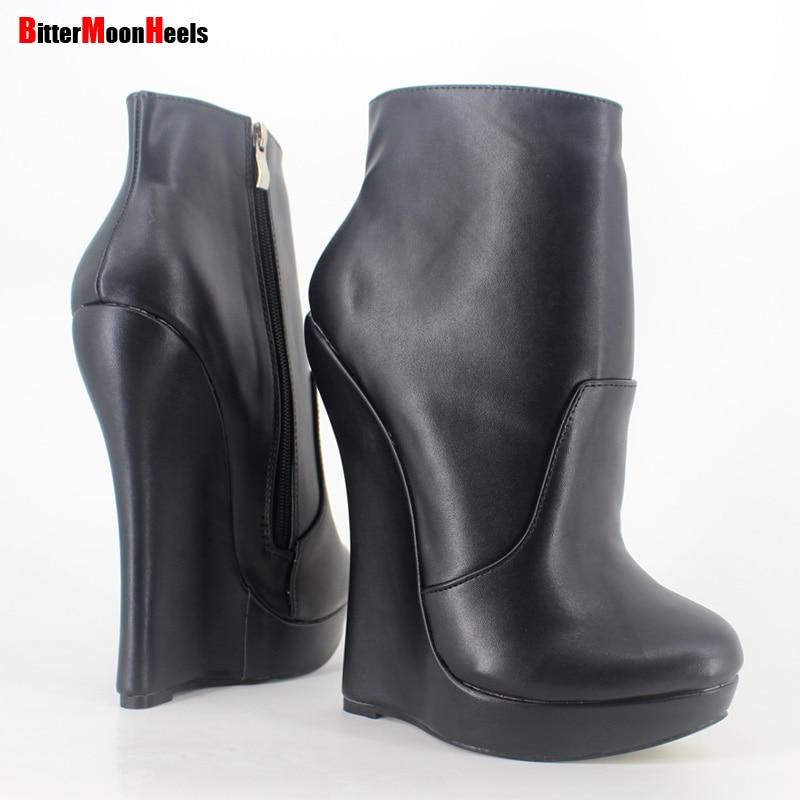 ФОТО Jialuowei Fetish Stallion Horse Hoof Sole  Ankle Boots With Zip BDSM Platform Runway Rock Star Night Club Goth Punk Hi Heel Boot