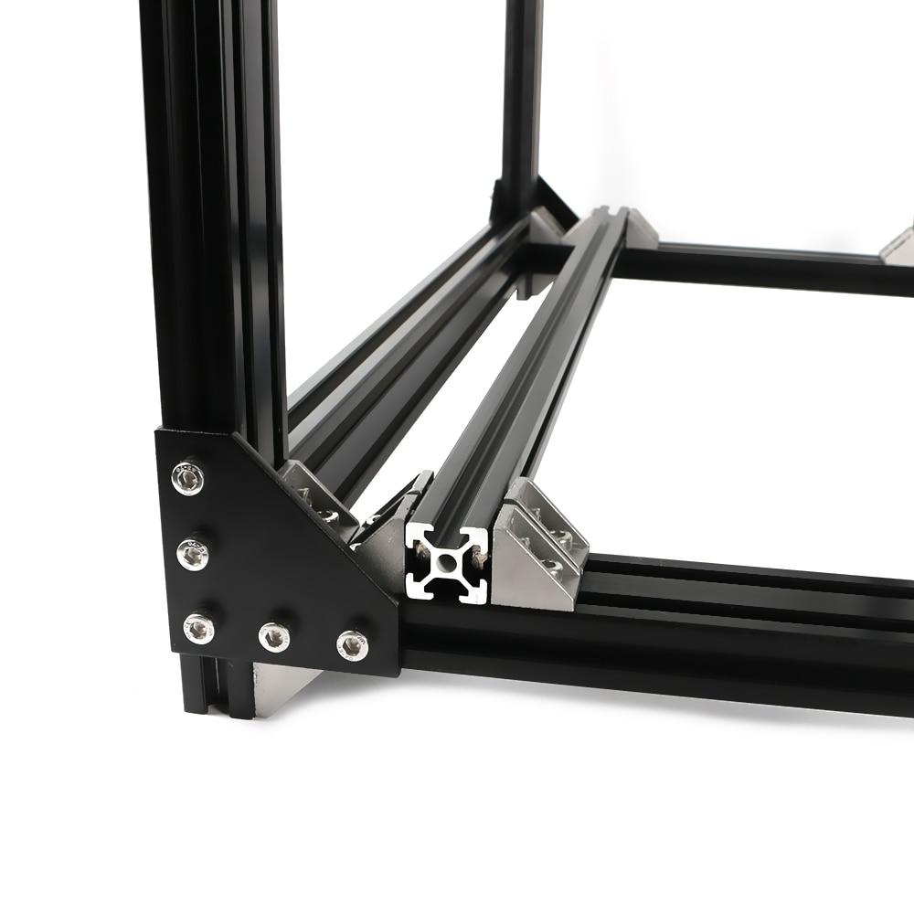 Black Aluminum 2040 Profile Extrusion BLV Mgn Cube Frame Kit For DIY CR10 3D Printer Z Height 365MM