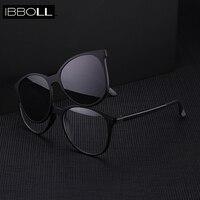 ibboll Fashion Clip On Round Sunglasses 2018 Women Polarized Sun Glasses Womens Retro Luxury Sunglass Multi purpose Oculos 6202