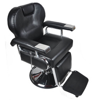 Shellhard Adjustable Barber Chair Reclining Hydraulic Styling Barber Salon Hair Cutting Chair Black