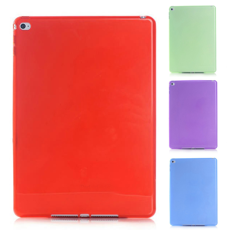 Silicone Soft TPU Cover Skin Case Transparent Protect Anti-scratch Flexible Cover For Apple iPad 6 air 2 Tablet  QJY99 high quality thickening tpu silicone cover for ipad air ipad 5 case fashion soft transparent froste cover air1 tablet pc stand