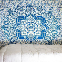 2018 Indian Mandala Print Tapestry Hanging Hanging Hippy Bohemian Twins Bedspread Beach Yoga Mat Throws Multipurpose Towel
