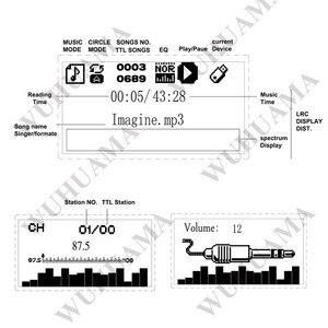 Image 3 - Czarny tekst pokaż LCD pojemnościowy ekran dotykowy pilot zdalnego SD MP3 odtwarzacz IR moduł kontrolera USB WMA WVA FLAC LRC Bluetooth radio