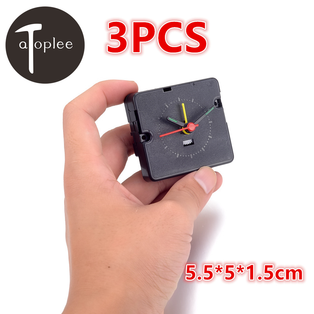 Atoplee 3PCS font b Electronic b font Alarm Clock Movement Kit Plastic Movement Mechanism Repair Parts