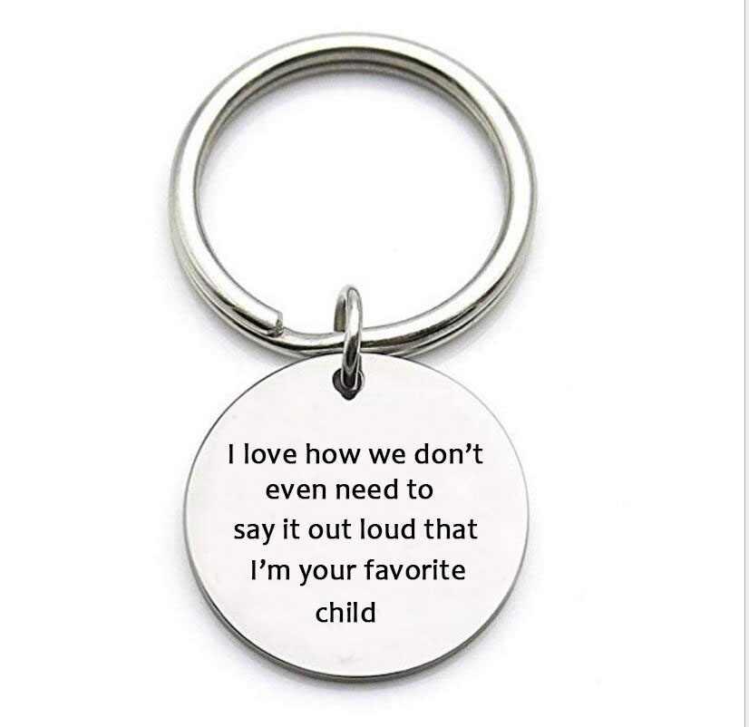 Phụ Kiện thời trang Quà Tặng Ngày của Mẹ Không Chữ Thép Không Gỉ Mặt Dây Chuyền Quyến Rũ Móc Chìa Khóa Keychain Gia Đình Đồ Trang Sức