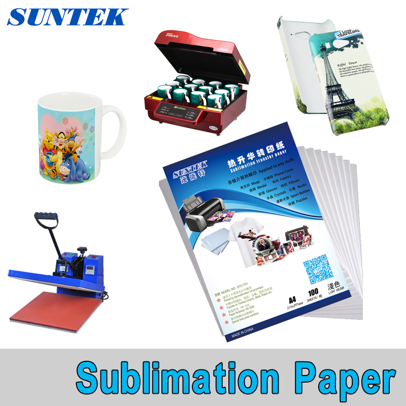10x A4 Heat Transfer Sublimation Paper for DIY T-Shirt Cup Light Fabric Painting