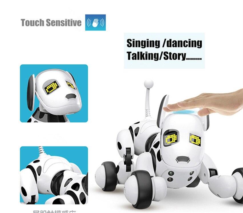 Nouveau programmable 2.4G télécommande sans fil Smart Robot chien enfants jouet Intelligent parlant Robot chien jouet électronique Pet kid cadeau - 5