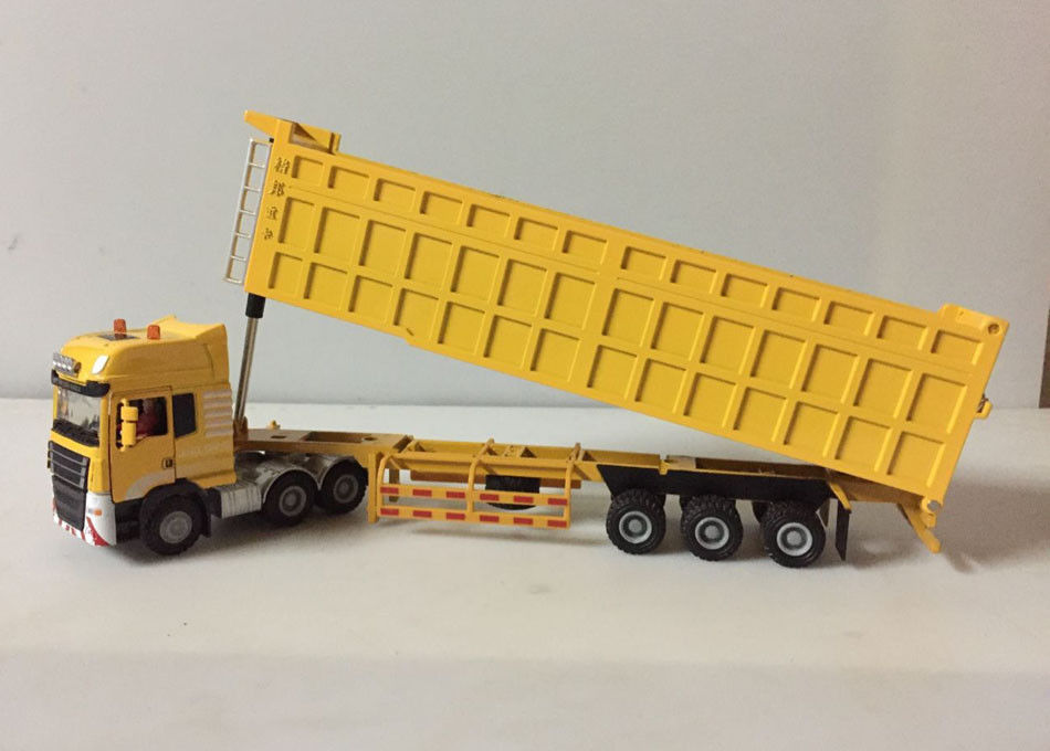 1:50 Scale Die-Cast Metal Model Toy - Construction Vehicles Semi Heavy Truck