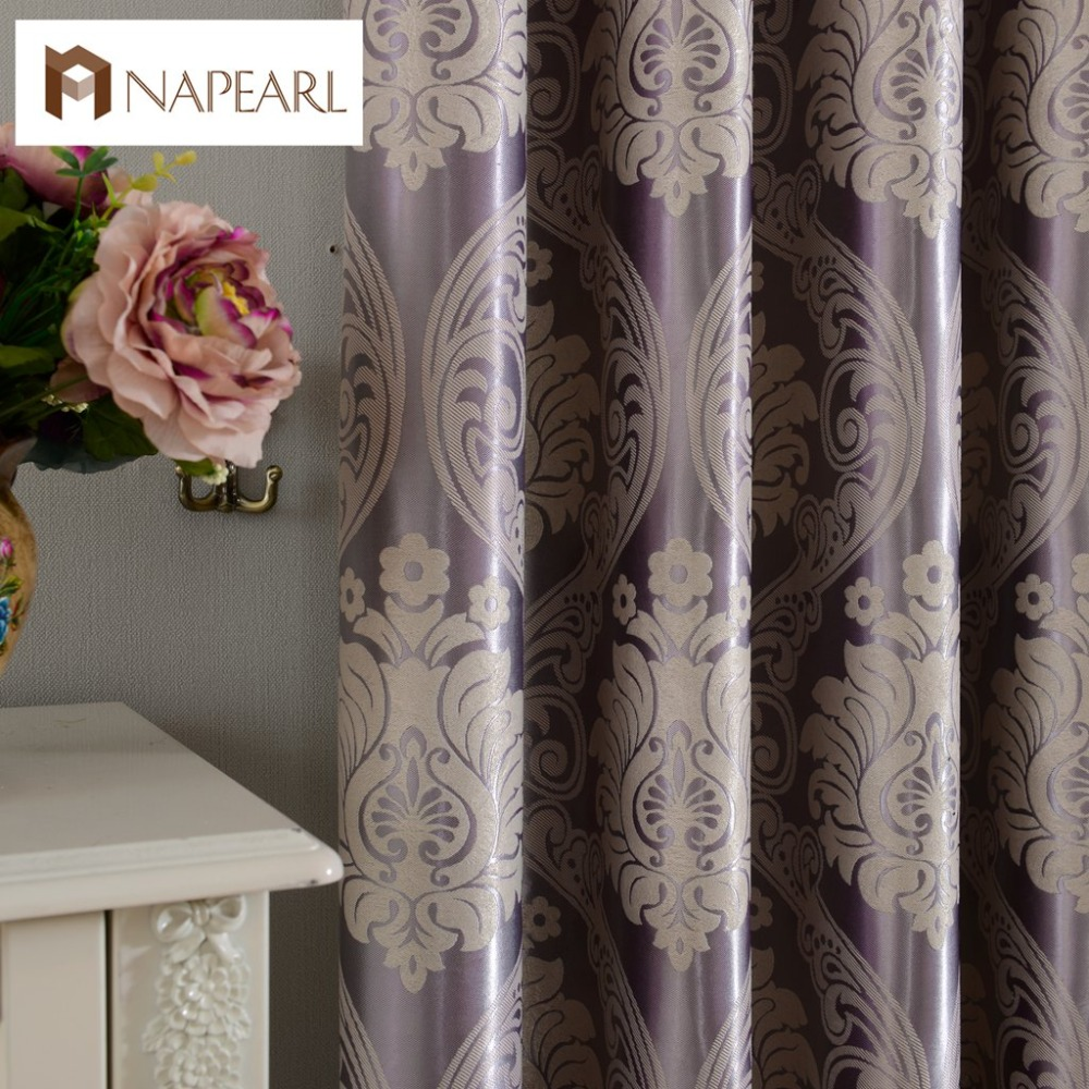 European Jacquard Curtains Full Blackout Bedroom Window Blind Dining Room Shade
