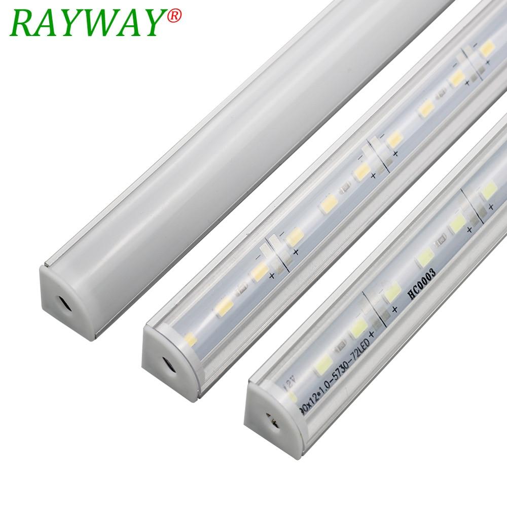 5st * 50cm 5050 smd ledigt bandlampa Hård LED-lampa Ljus + - LED-belysning