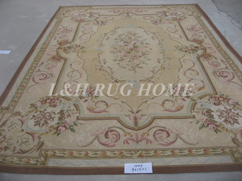 Free shipping 9 39 x12 39 aubusson woolen rugs french aubusson for 9 x 12 living room rugs