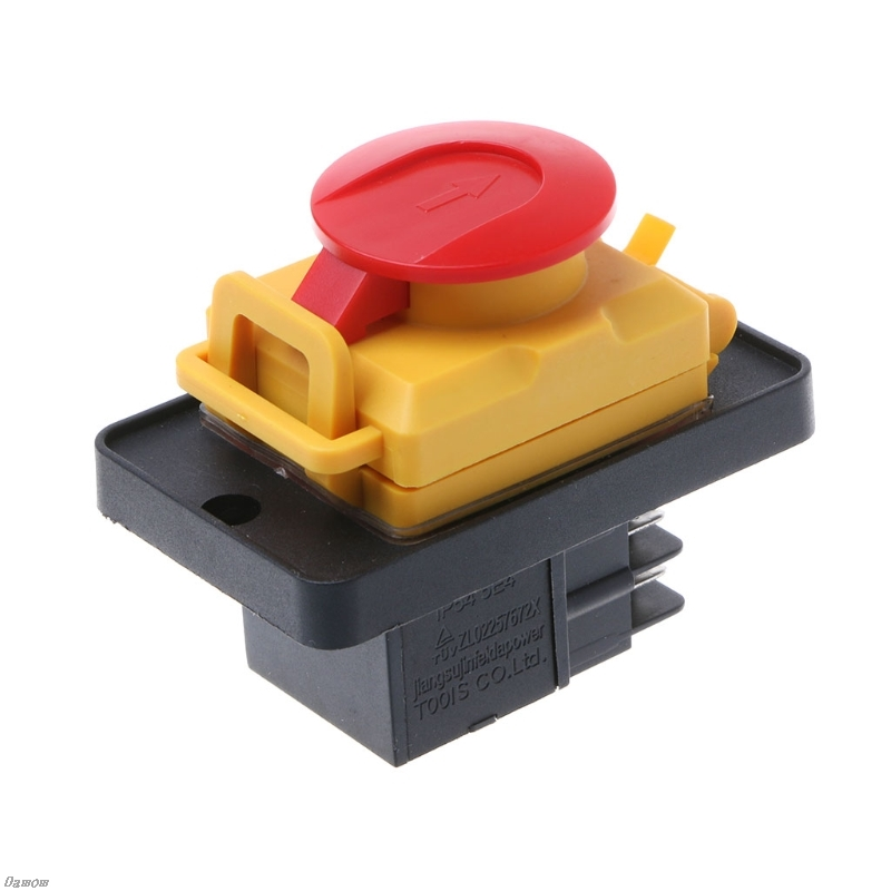 KJD12 250V 4Pin Waterproof Magnetic Start Stop No Volt Release Pushbutton Switch Damom 4pin 5pins waterproof magnetic explosion proof pushbutton switch kld 28a 5e4 ip65 220v magnetic starter electromagnetic switches