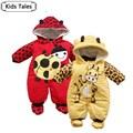 SR008 Hot Selling Overalls + hat + shoes animal style hooded rompers boys girls clothes infant clothes