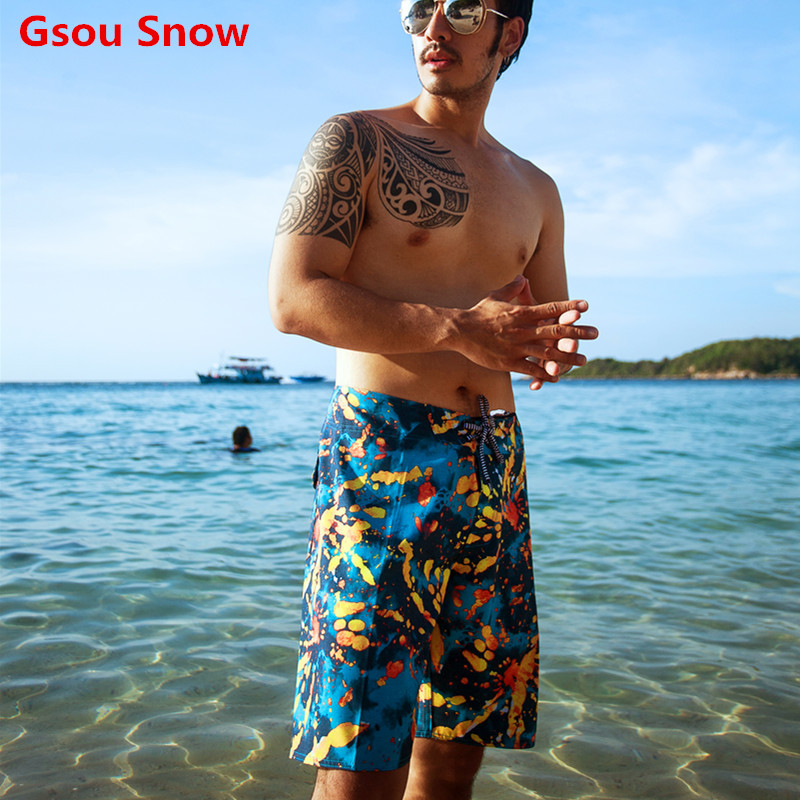 GS mens swimming boardshorts trunks men swimwear beach board shorts bermuda surf short de bain homme zwembroek heren shorts