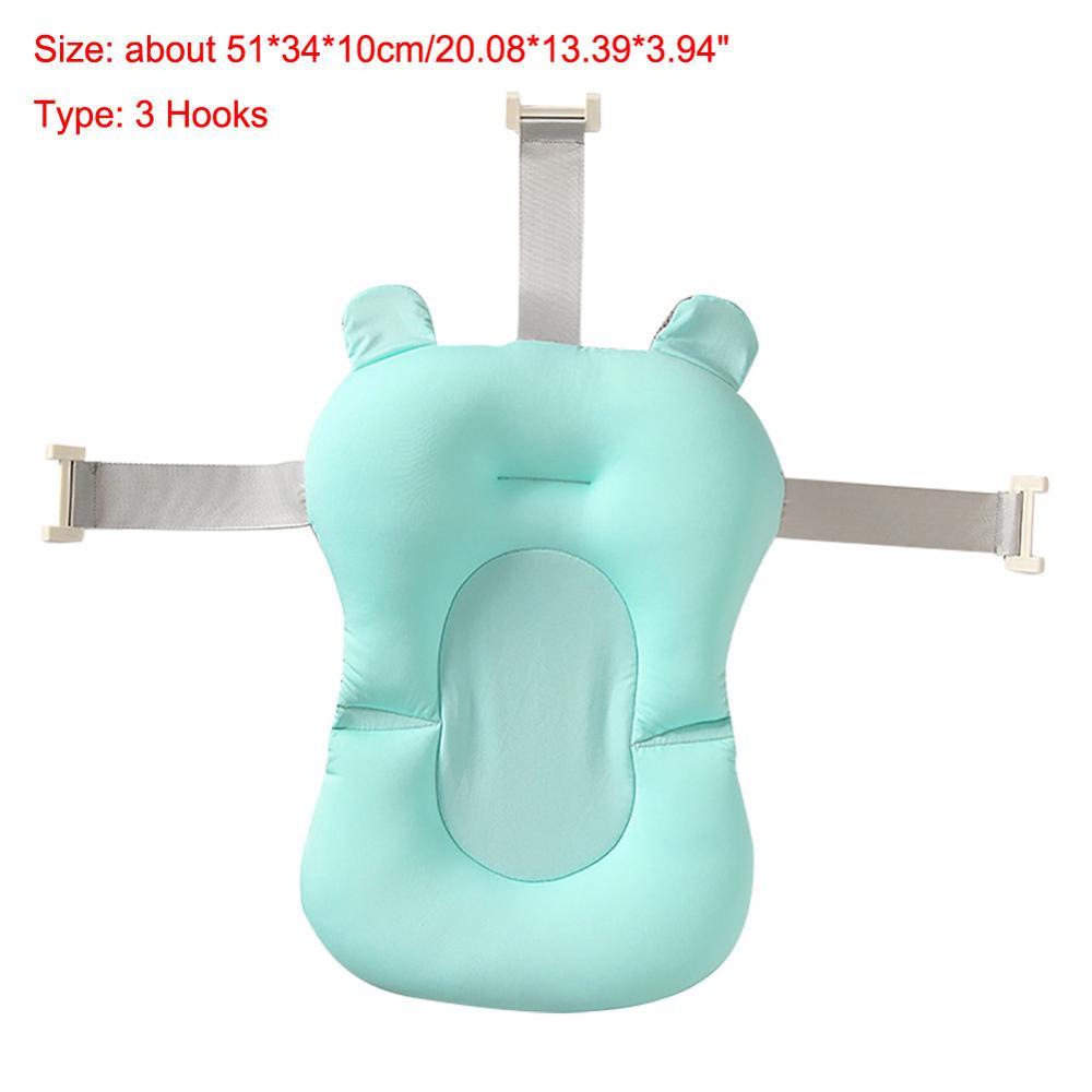 Мультяшная Детская ванна для душа, нескользящая складная детская ванна с крючками, для новорожденных, для ванны, для младенцев, подушка для поддержки ванны, мягкая подушка - Цвет: 14