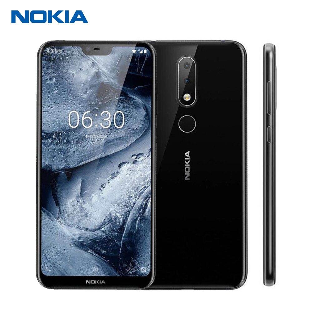 Nokia X6 32g 4g Mobile Téléphone 5.8 Snapdragon 636 Octa Core Double Arrière Caméra Android 8.1 D'empreintes Digitales