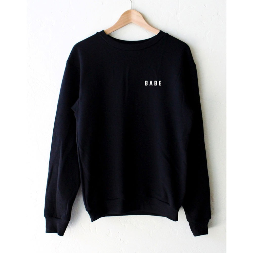 Baby Printed Black Hoody Sweatshirts Cute Long Sleeve Loose Womanu0026#39;s Tops-in Hoodies ...
