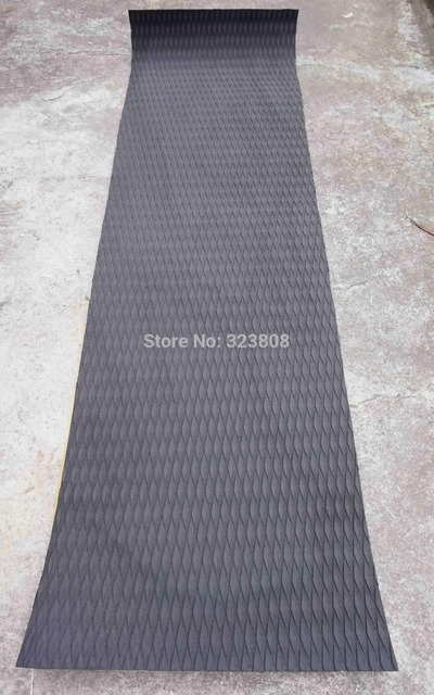 Free shipping black color EVA 3M glue skidproof top pad stand up paddle board sup deck pad  grip pad