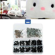 100pcs 6-12mm Plastic Safety Eyes For Teddy Bear Doll Animal Puppet Crafts Black 12mm doll stuffed doll eyeballs half round acrylic eyes for diy doll bear crafts mix color plastic doll eyeball 100pcs box