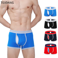 efdf14aa6a8 TEXIWAS Hot New Fashion Sexy Quality Men s Boxers Large Size Cotton  Underwears Mans Plus Size Panties Fat Trunk Male Underpant