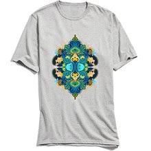 Oversized Men T-shirts O Neck T Shirt Unique Tattoo Design Tshirt Short Sleeve 100% Cotton Inner Explosion Tops & Tees Grey