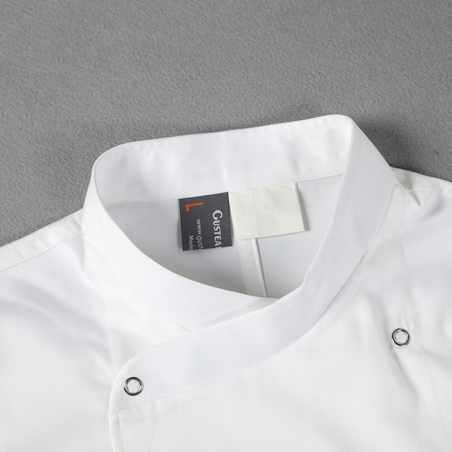 Top quality unisex cook suit comfortable and breathable work wear short-sleeve chef cook jacket shirt cook uniform