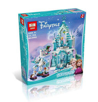 Model Building Kits Compatible With Lego City Elsa S Magical Ice Castle 3D Blocks Educational Toys