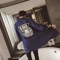 Camisas dos homens do Verão 2017 Dos Homens Camisa de Manga Longa de Algodão Hip Hop top tees clothing coreano fresco tamanho grande camisas dos homens do punk rock T302