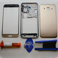 Full Housing Case Back Cover Middle Frame Bezel For Samsung Galaxy J3 (2015) Single card & tools & Outer glass & UV Glue