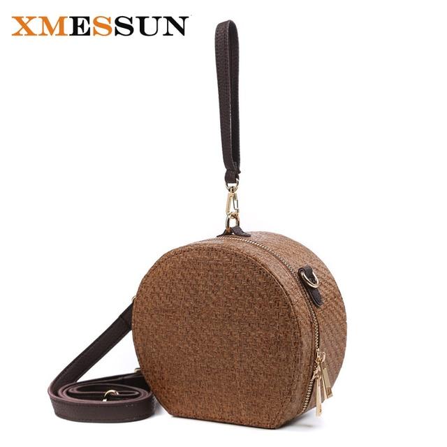 2018 Vintage Straw Bags Circle Rattan Bag Women Beach Small Bohemian Handbags Summer Handmade Crossbody
