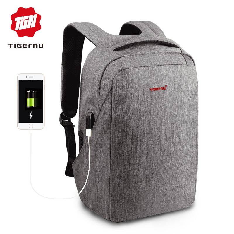 Tigernu Anti Theft Backpacks for Male 15.6 inch Laptop Waterproof Backpack for Teeanager Fashion Travel Women Schoolbags Mochila