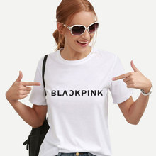 Korean Style Fashion BLACKPINK Women T Shirt Tops Summer Streetwear Print Kawaii Ulzzang  Harajuku Clothes