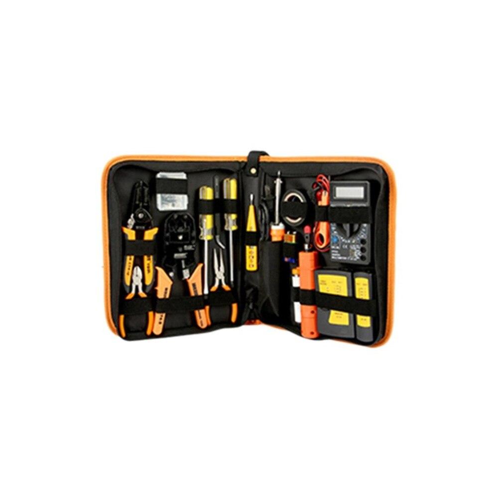 17 in 1 Electronic Maintenance Tools Set Digital Multimeter Repair Tools Kit Network Repairing Accessories used original 90% adf maintenance kit 525mfp for hp575 725 775 7500 adf maintenance kit