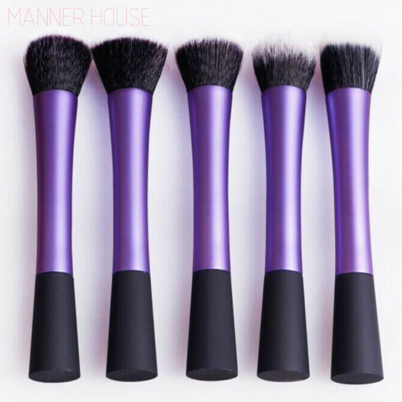 Professional Makeup Brush Set 5 pcs High Quality Makeup Tools Kit Violet professional makeup brush set 12pcs high quality makeup tools
